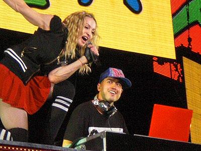 DJ Enferno with Madonna