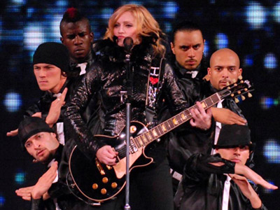 Madonna performing Ray of Light in the Confessions Tour