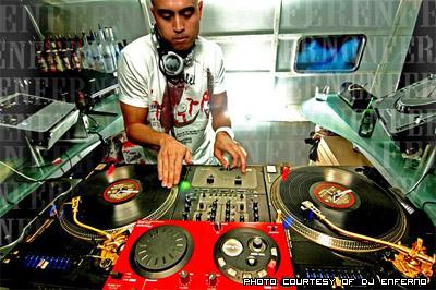 DJ Enferno on the decks