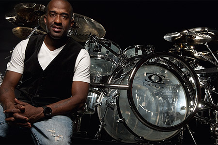 Brian Frasier-Moore and his custom DrumCraft kit