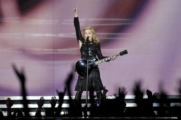 Madonna performing Turn Up The Radio on her MDNA Tour